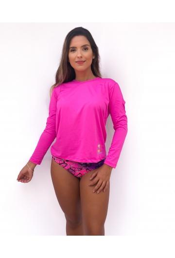 Camiseta Feminina com proteção UV 50+ Ref: 406