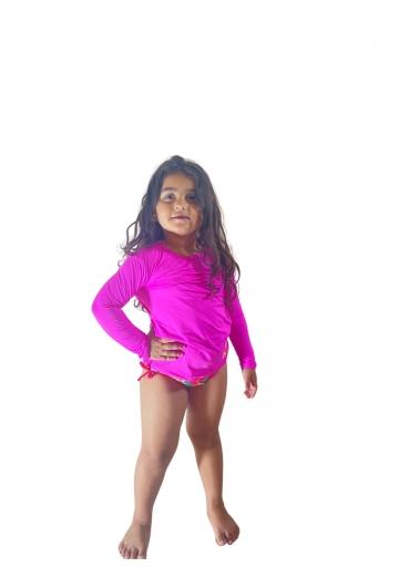 Camiseta Infantil Feminina com proteção UV 50+ Ref: 0405